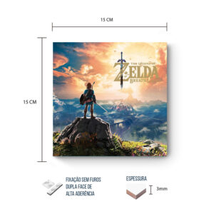 Placa Decorativa – Zelda – Breath of the Wild