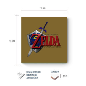 Placa Decorativa – Zelda – Ocarina of Time