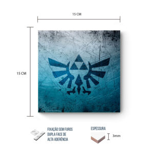 Placa Decorativa – Zelda – Triforce