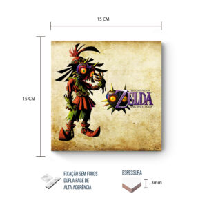 Placa Decorativa – Zelda – Majras's Mask Link