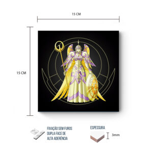 Placa Decorativa – Cavaleiros do Zodiaco – Athena