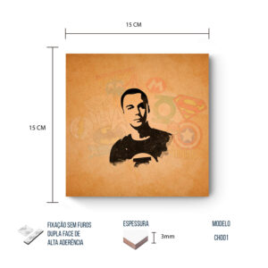 Placa Decorativa – Big Bang Theory – Heroes