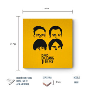 Placa Decorativa – Big Bang Theory – Faces