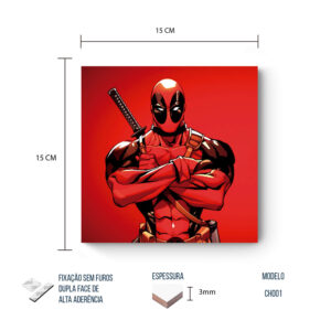 Placa Decorativa – Marvel – Deadpool