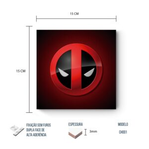 Placa Decorativa – Marvel – Deadpool Symbol