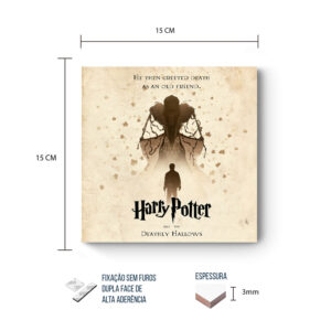 Placa Decorativa – Harry Potter – Relíquias da Morte