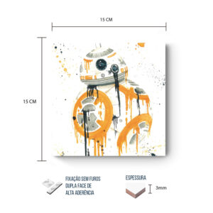 Placa Decorativa – Star Wars – BB8