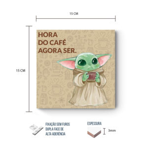 Placa Decorativa – Star Wars – Baby Yoda