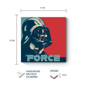 Placa Decorativa – Star Wars – Darth Force