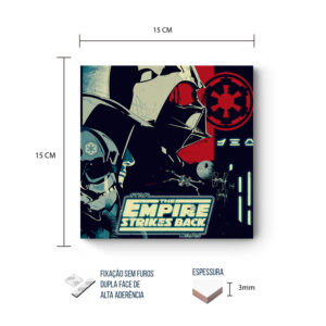Placa Decorativa – Star Wars –  Empire Strikes Back