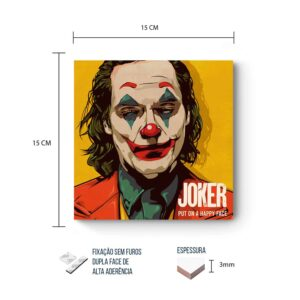 Placa Decorativa Joker Put on a Smile